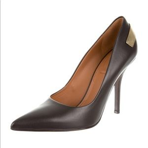 Black leather Givenchy pointed-toe pumps
